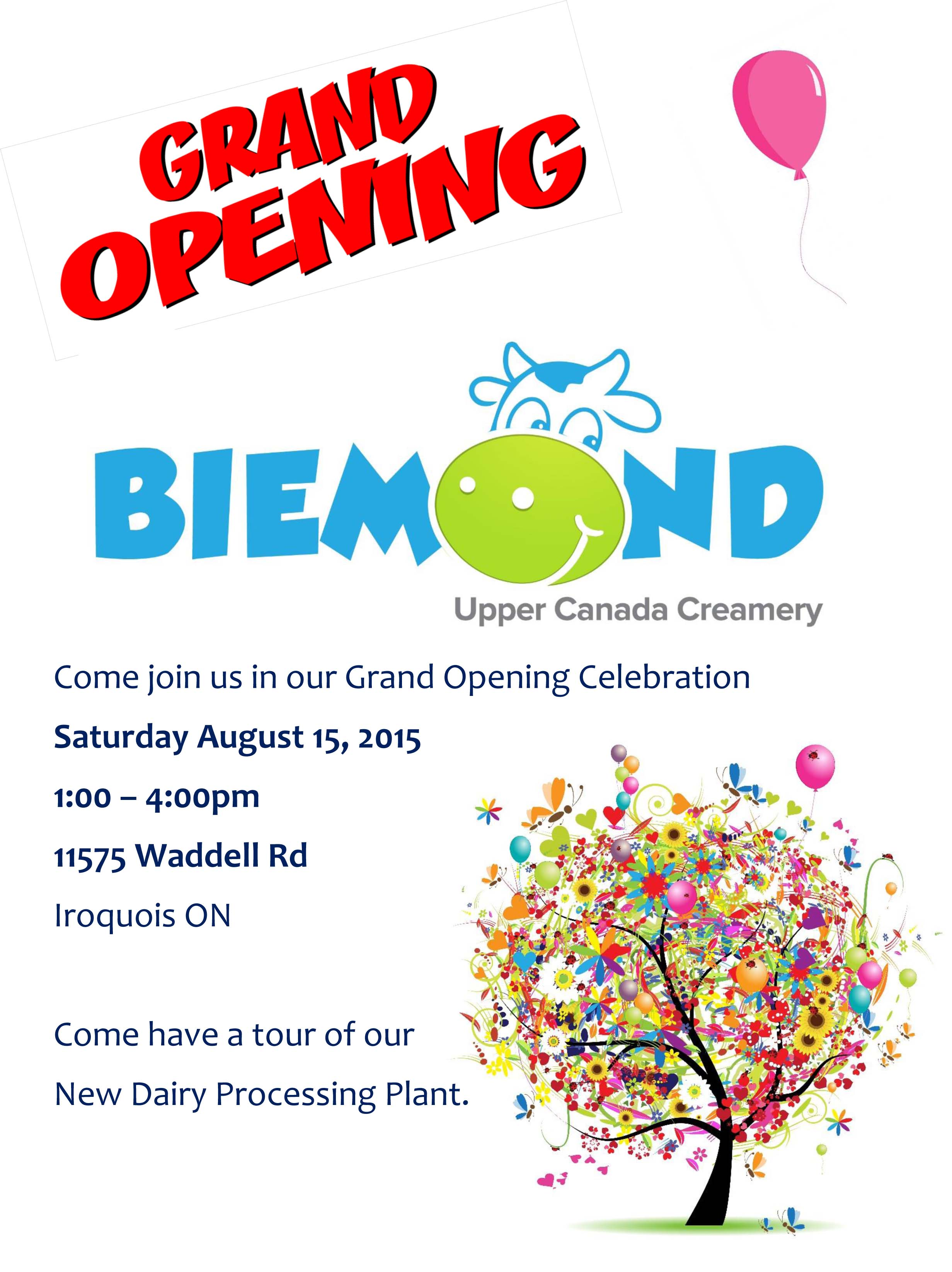 Grand Opening! August 15th, 2015